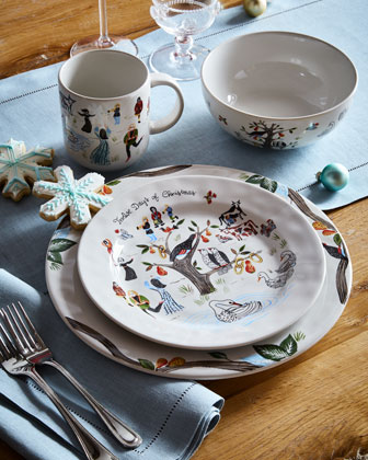 Twelve Days of Christmas Dessert/Salad Plate  and Matching Items