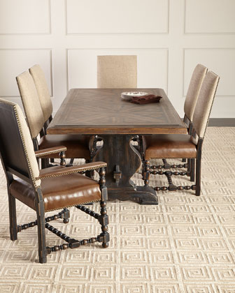 Casella Pedestal Dining Table  and Matching Items