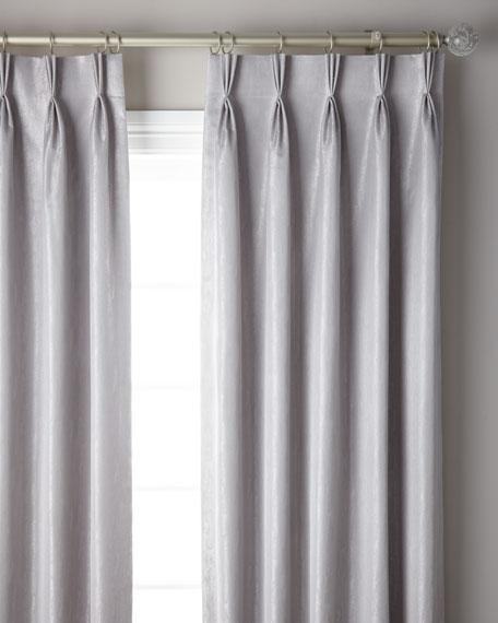 "3-Fold Pinch Pleat Shimmer Curtain Panel, 108"""