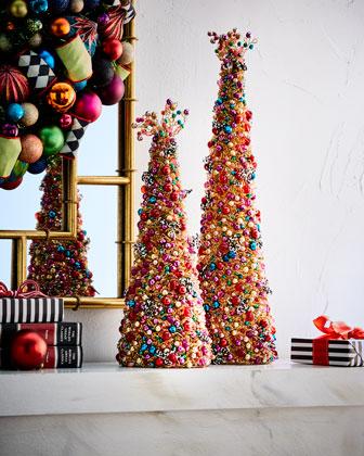 Bijou Beaded Tabletop Christmas Tree, 22