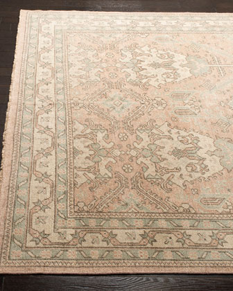 Louie Hand-Knotted Rug, 6' x 9' and Matching Items