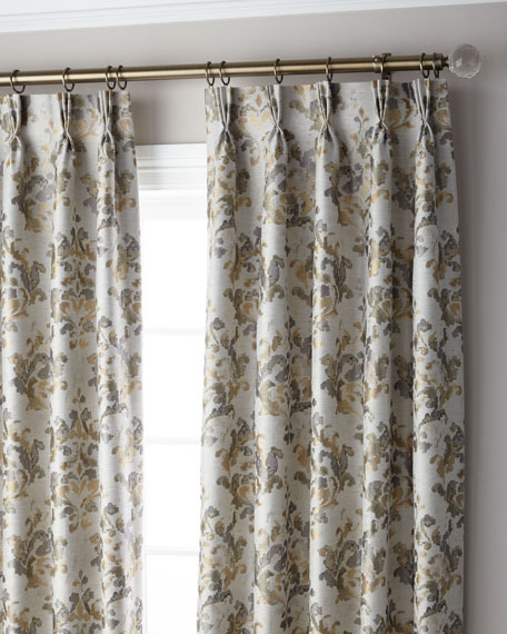 Marble 3-Fold Pinch Pleat Curtain Panel, 108""