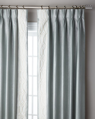 Ocean Sparkle 3-Fold Pinch Pleat Curtain Panel  96 and Matching Items
