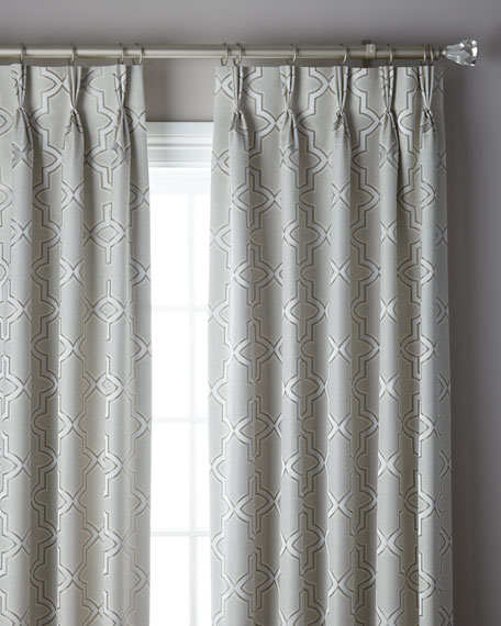 3-Fold Pinch Pleat Trellis Curtain, 120""