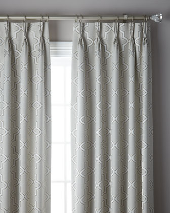 3-Fold Pinch Pleat Trellis Curtain  132  and Matching Items