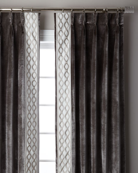Steel Metropolitan 3-Fold Pinch Pleat Blackout Curtain Panel, 120""
