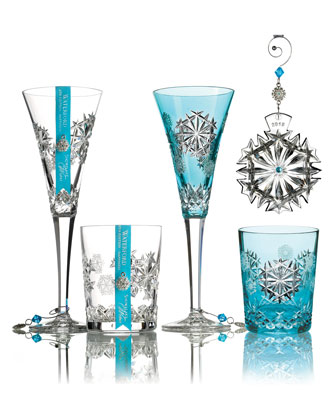 Snowflake Wishes Happiness Flute, Clear  and Matching Items