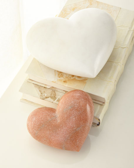 Rose Marble Heart