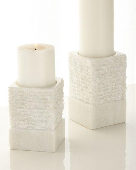 """Chiseled Pillar Candle Holder, 6"""""""