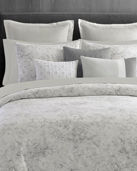 Tulle Floral Queen Duvet Set