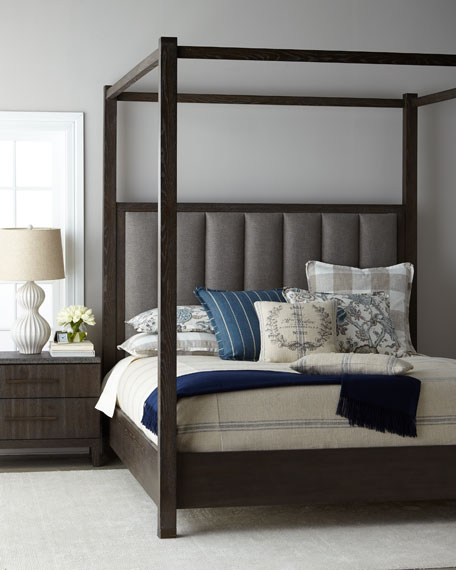 Liesel Tufted California King Canopy Bed