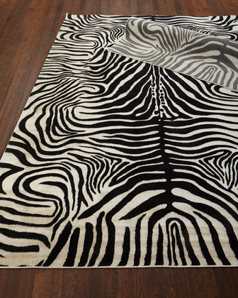 Dariya Power-Loomed Zebra Rug