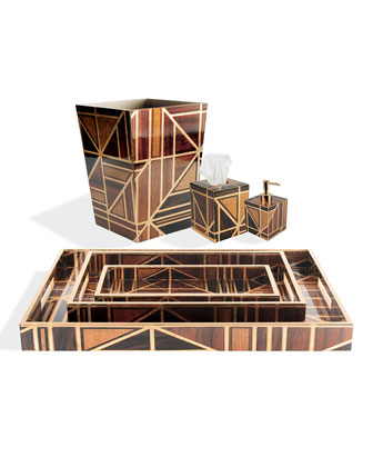 Parquet Vanity Tray and Matching Items