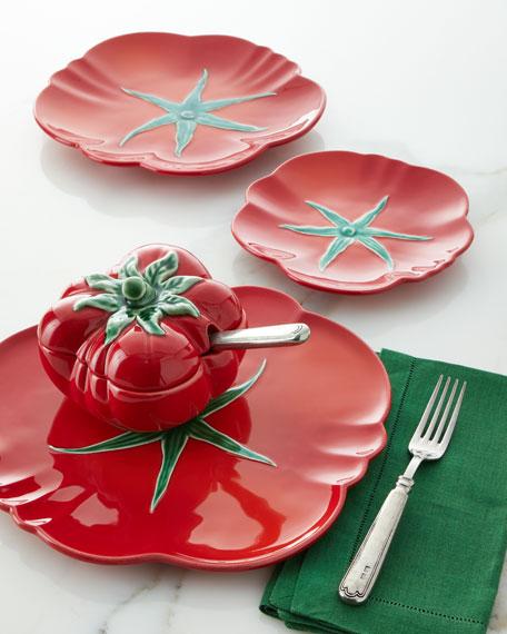 "Tomato Dessert Plate, 8.3"""