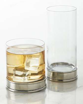 Pewter and Glass Highball  and Matching Items