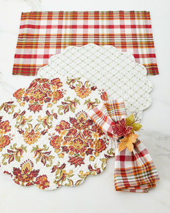 Abingdon Plaid Napkins, Set of 4 and Matching Items