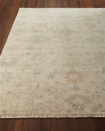 Mykia Hand-Knotted Oushak Runner, 2.6' x 12'  and Matching Items