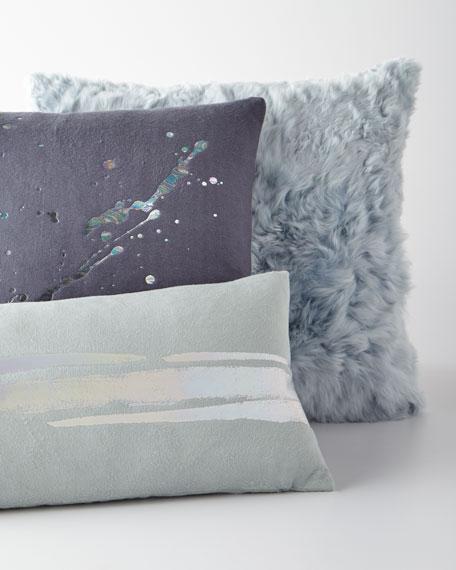 Constellation in Prism Dusk Fleece Pillow