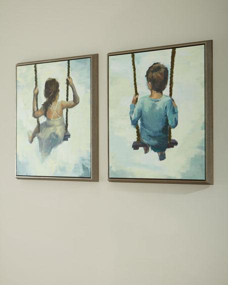 """Aiden"" Handmade Giclee on Canvas Wall Art"
