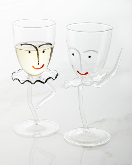 Passe Drinking Glass with Stem