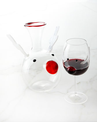Red-Nosed Reindeer Decanter and Matching Items