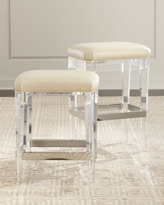 Fluted Acrylic Bar Stool  and Matching Items