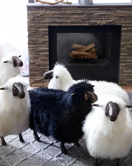 Magali Sheepskin Bench