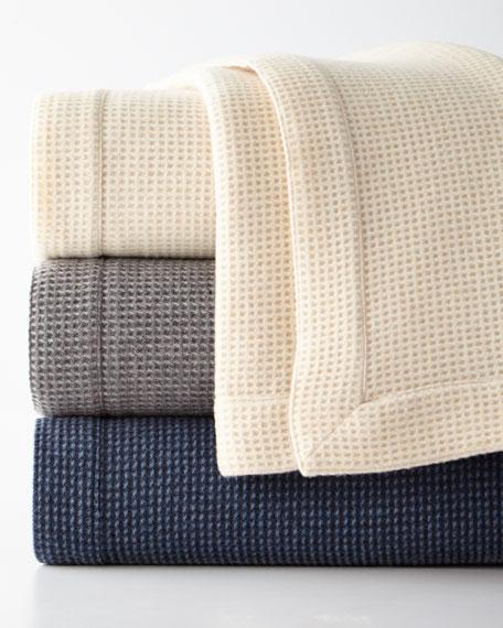 Merino Wool Waffle Knit Full/Queen Blanket