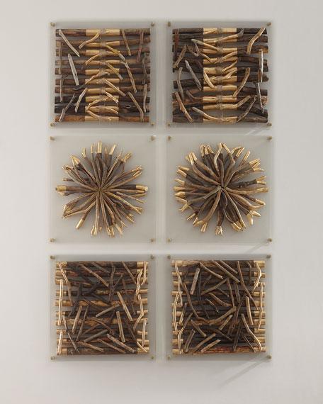 Acrylic Driftwood Striped Wall Decor