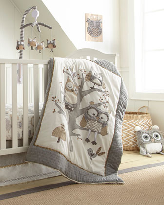 Night Owl Fitted Crib Sheet and Matching Items