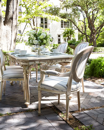 Outdoor Dining Table and Matching Items