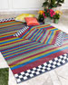 Kasbah Stripe Indoor/Outdoor Rug, 5' x 8'