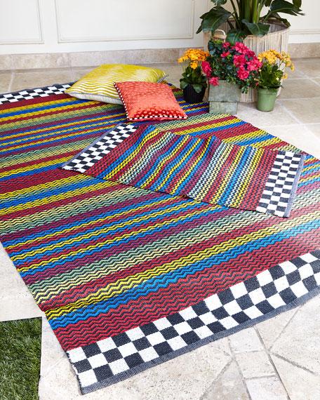 Kasbah Stripe Indoor/Outdoor Rug, 5' x 8'