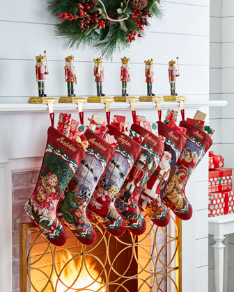 Santa Needlepoint Stocking and Matching Items