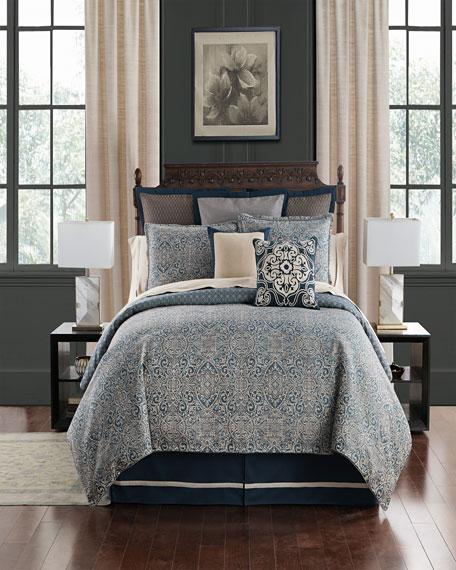 Asher Reversible 4-Piece Queen Comforter Set