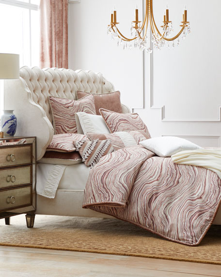 """Geod"" Queen Duvet with Velvet Piping"