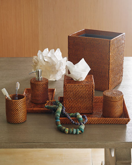 Dalton Rattan Tissue Box Cover