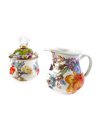 Flower Market Creamer  White  and Matching Items