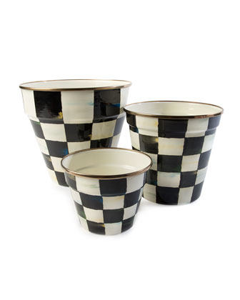 Courtly Check Enamel Medium Garden Pot  and Matching Items