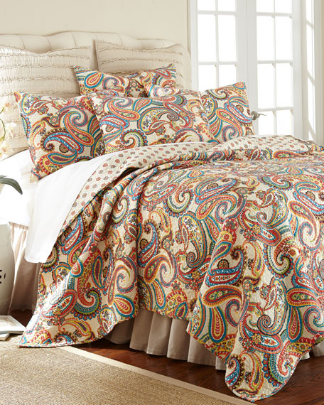 Alyssa Paisley Twin Quilt Set