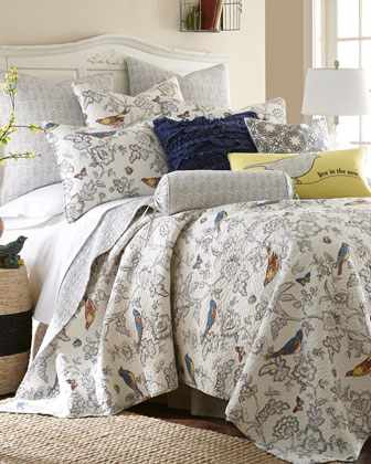 Mockingbird Twin Quilt Set  and Matching Items