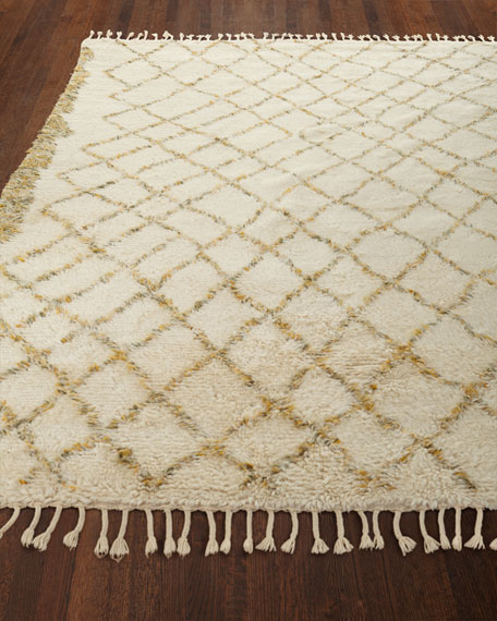 Sachi Hand-Knotted Shag Rug, 5.6' x 8'