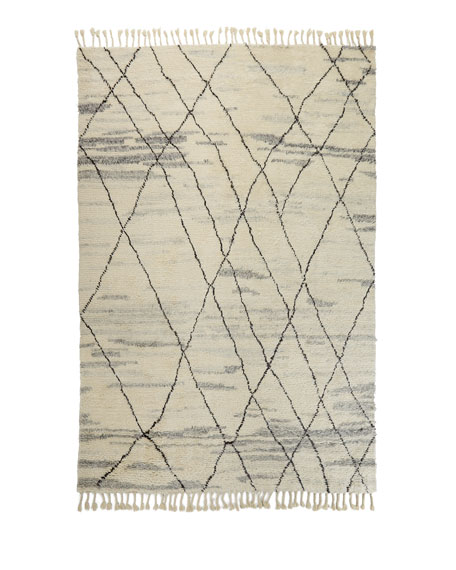 Kirsten Hand-Knotted Shag Area Rug, 9' x 12'