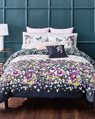 Embroidered Floral Pillow  and Matching Items
