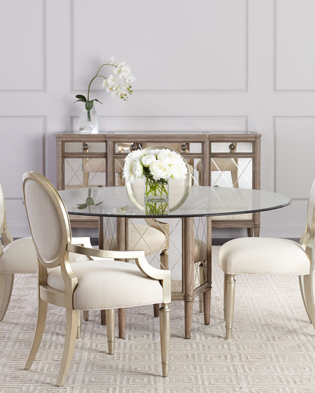 Alisa Antiqued Mirrored Dining Console