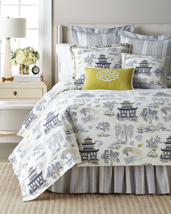 Shang Pagoda Full/Queen Duvet Set  and Matching Items