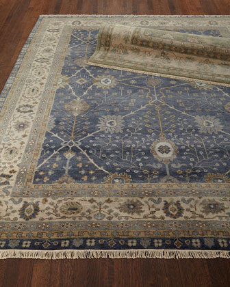 Peterson Hand-Knotted Rug  5' x 8'  and Matching Items