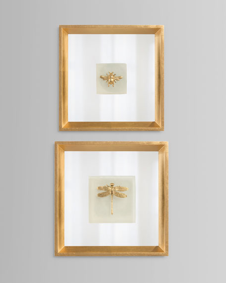 """Dragonfly On Alabaster"" Wall Art"
