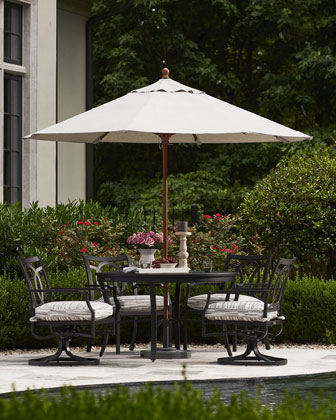 Raleigh Round Outdoor Dining Table and Matching Items