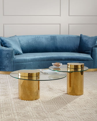 Odette Glass Top Side Table  and Matching Items